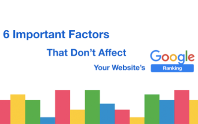 6 Important Factors That Don't Affect Your Website's Google Ranking.
